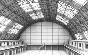 warehouse interior hangar model