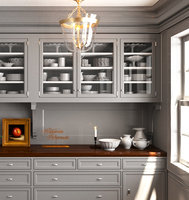 3D classic pantry kitchen interior