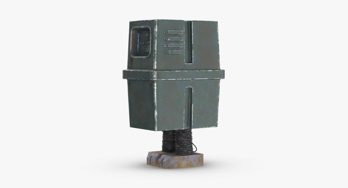 3D star wars gonk droid