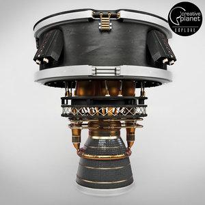 engine space rocket 3D
