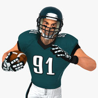 White American Football Player HQ 001