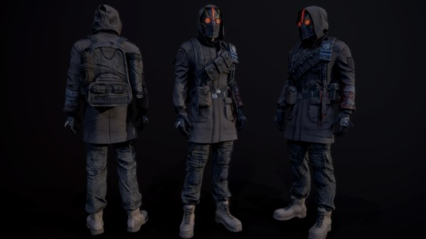post apocalyptic guy 3D