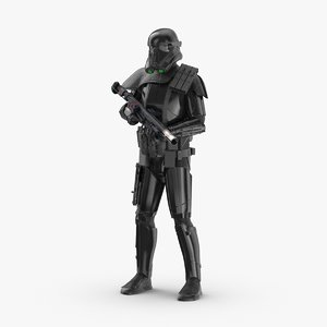 3D rigged imperial death trooper model