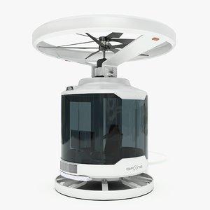 sci-fi self drone concept 3D model