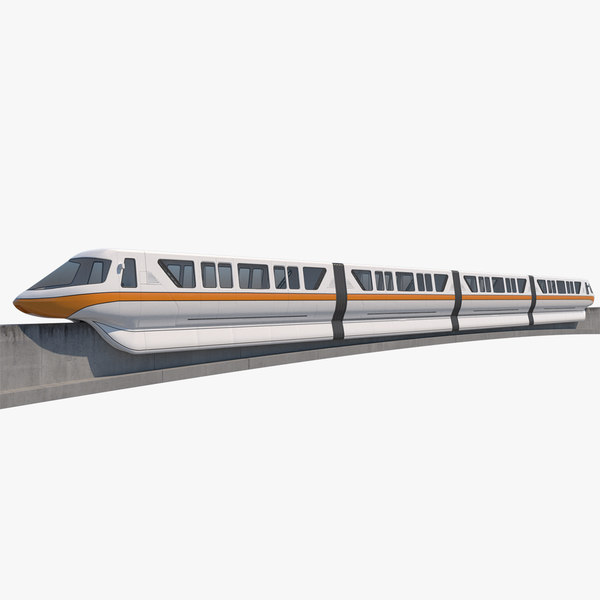 monorail realistic 3D