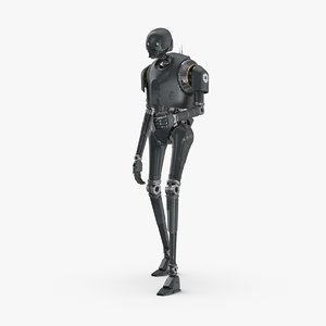 3D model rigged k-2so - shooting