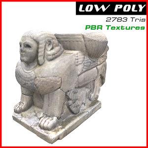 3D sculpture sphinx