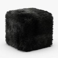 wool pure sheepskin luxury 3D model