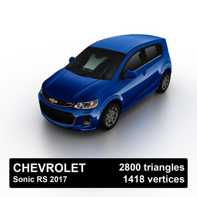 2017 chevrolet sonic rs 3D model