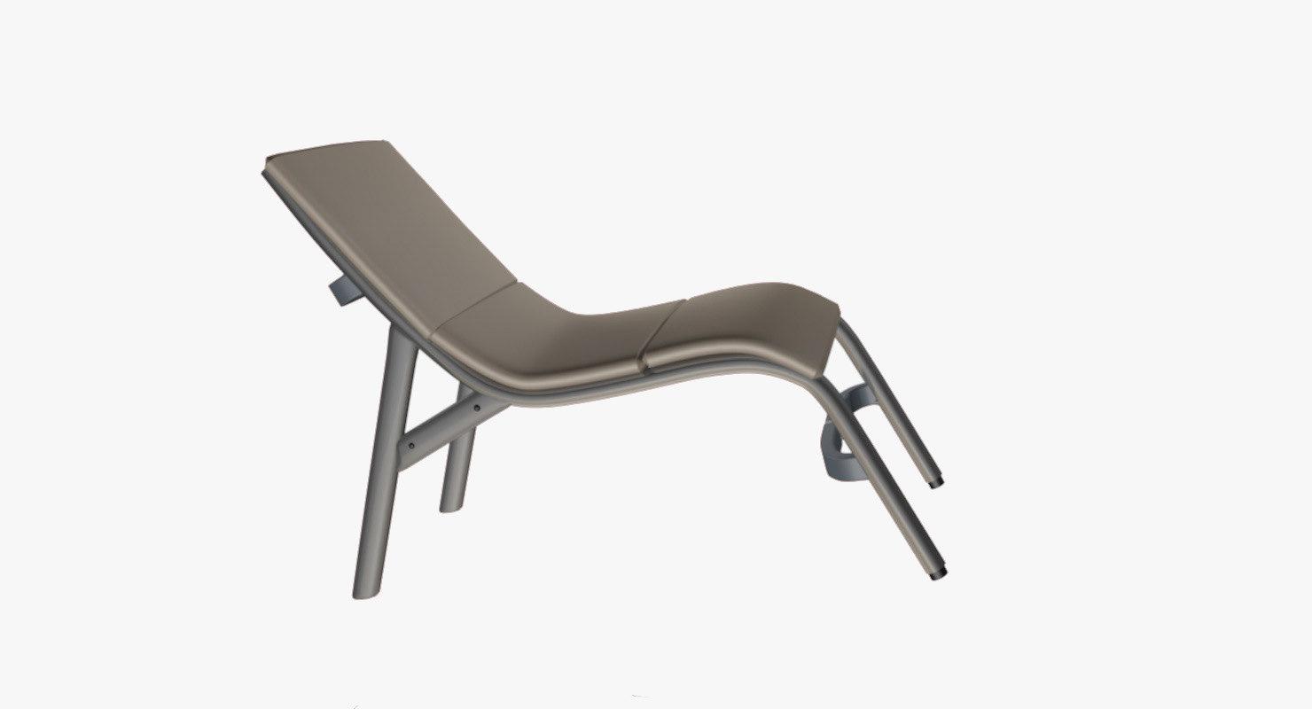 decorative terrace beach chair 3D