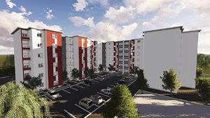3D residential buildings architecture revit model