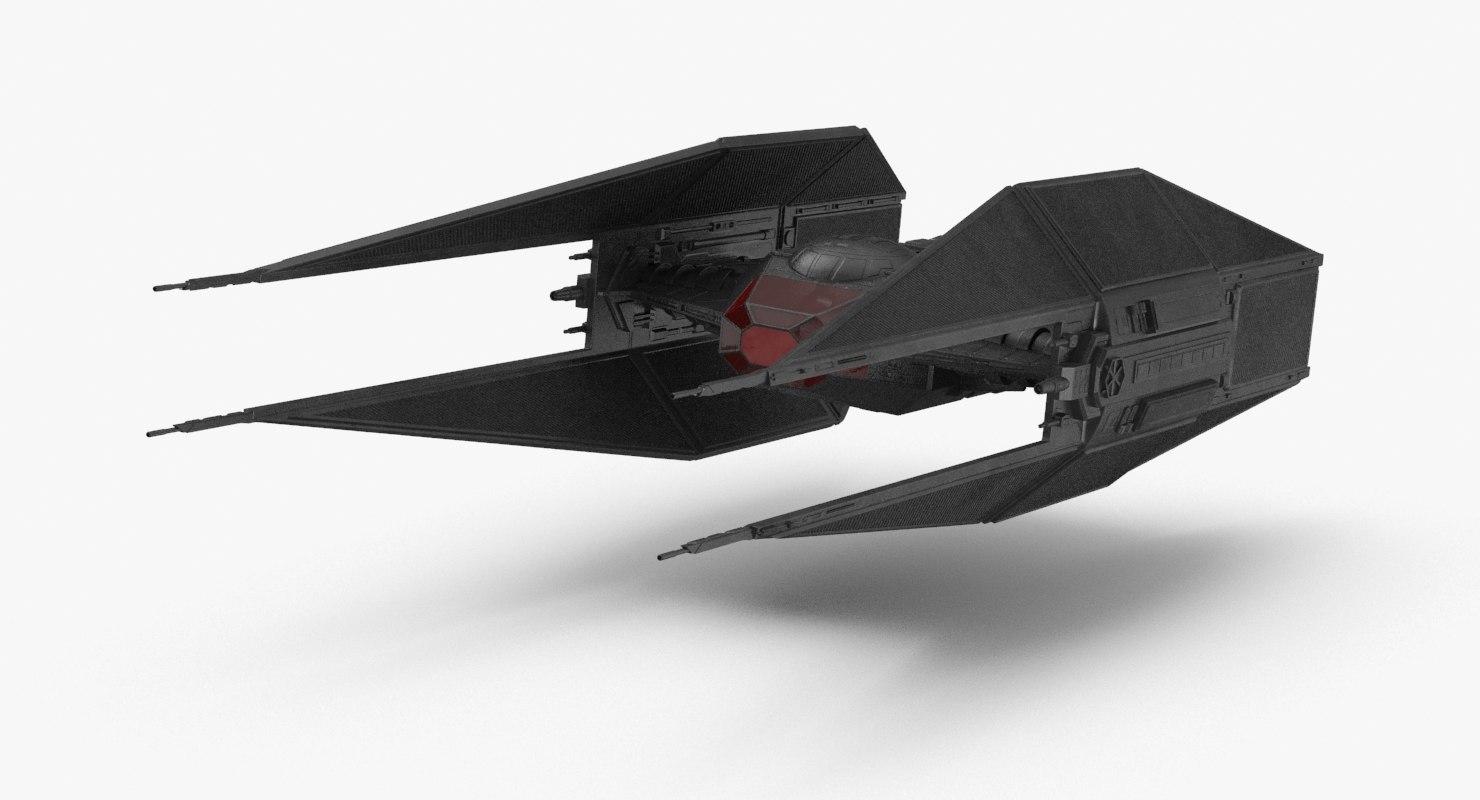 3D model starwars tie silencer