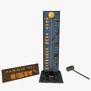 test strength hammer 3D model