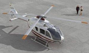 3D nice eurocopter ec 135 model