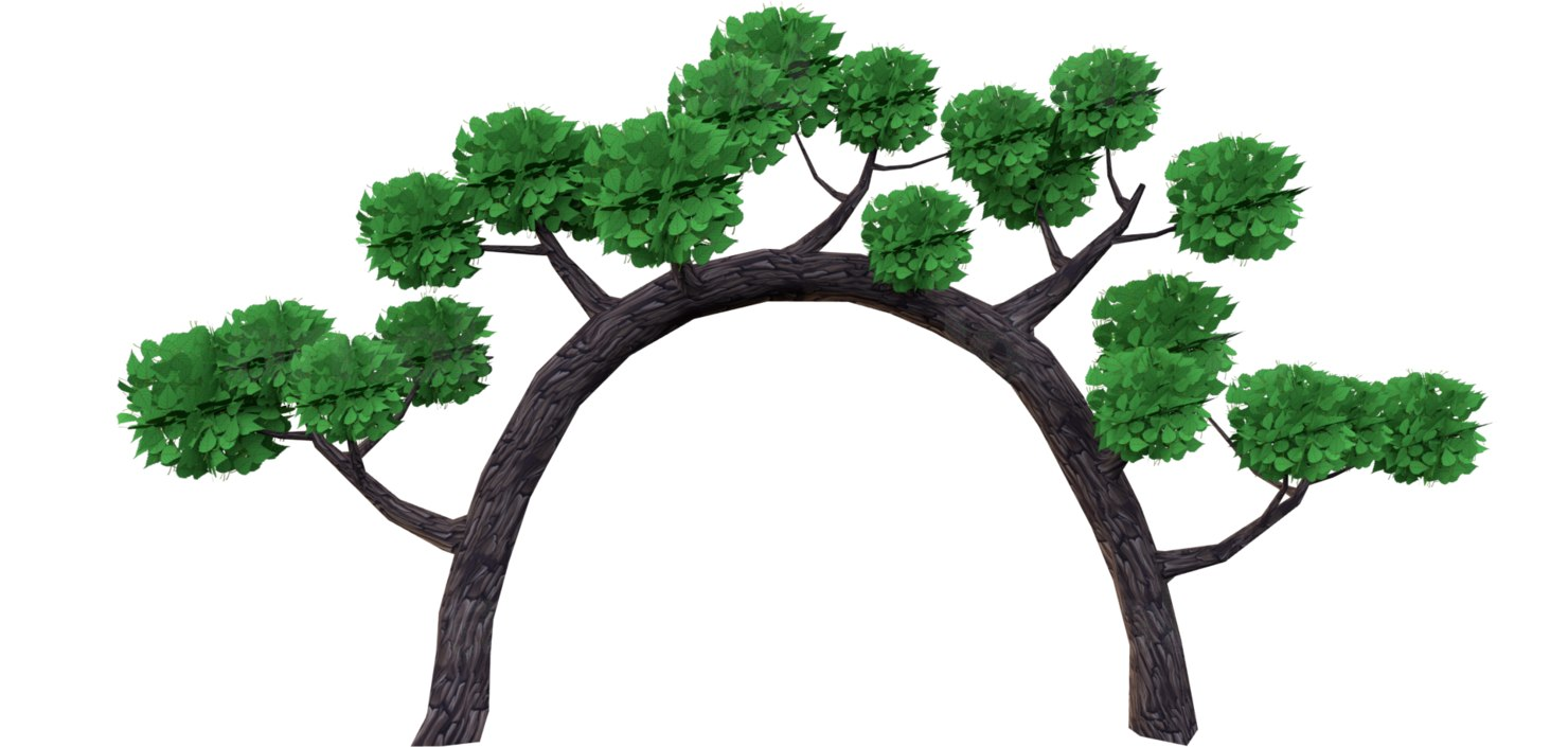 3D tree mobile model