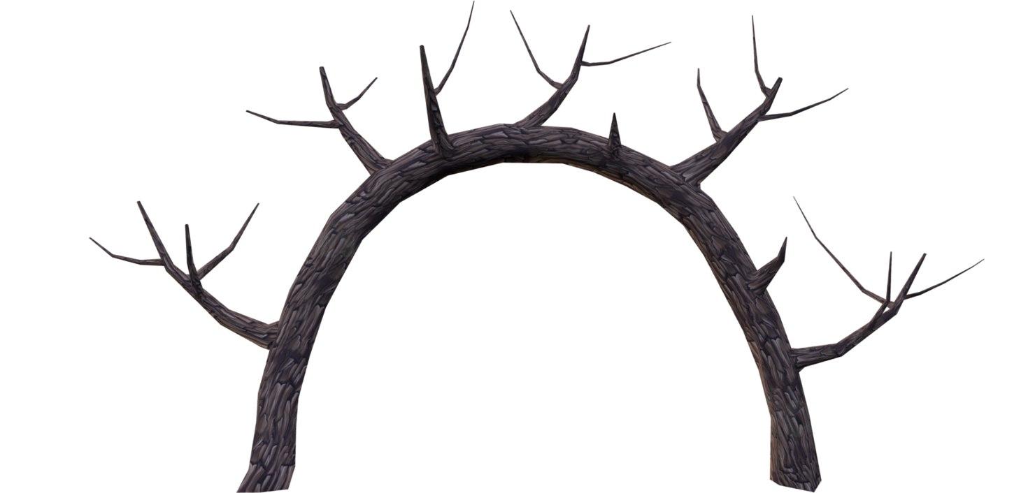 3D dry tree model