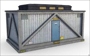 box utility construction 3D model