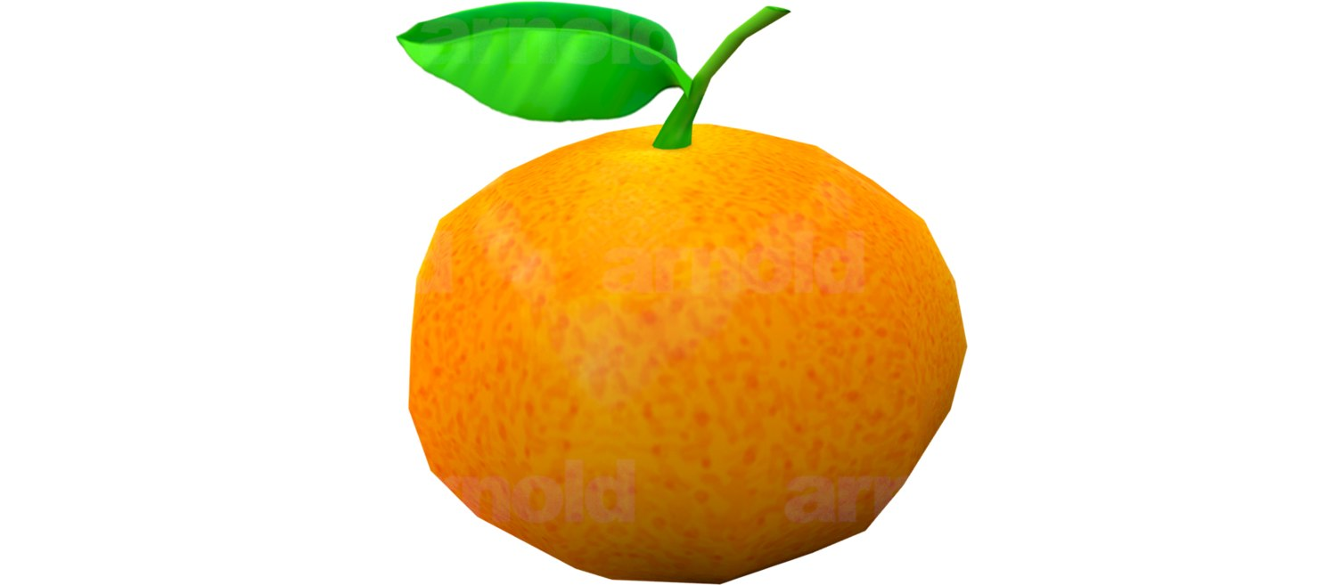 3D orange model