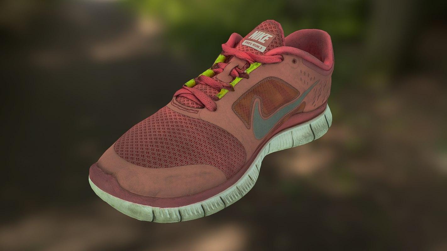 20aad6d9420 Worn Worn Turbosquid 3 3 Nike Run 1278253 Model 3d wrwCTnqR