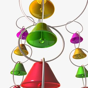 3D wind chimes model