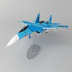 3D model su-27 airplane