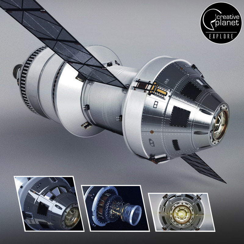 3D spacecraft rocket