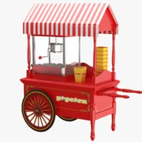 Popcorn Cart 3D Models for Download | TurboSquid