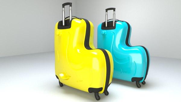 3D model suitcase bag