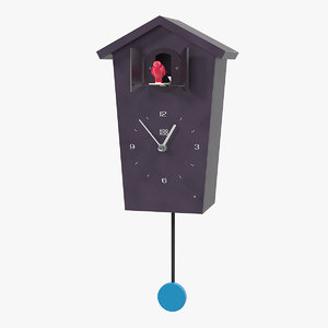 cuckoo clock black 3D model