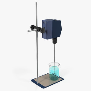 digital overhead stirrer scilogex 3D model