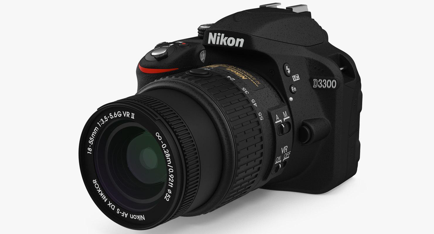 photo camera nikon d3300 3D