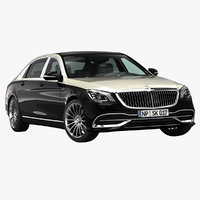 3D 2019 mercedes-benz s-class maybach
