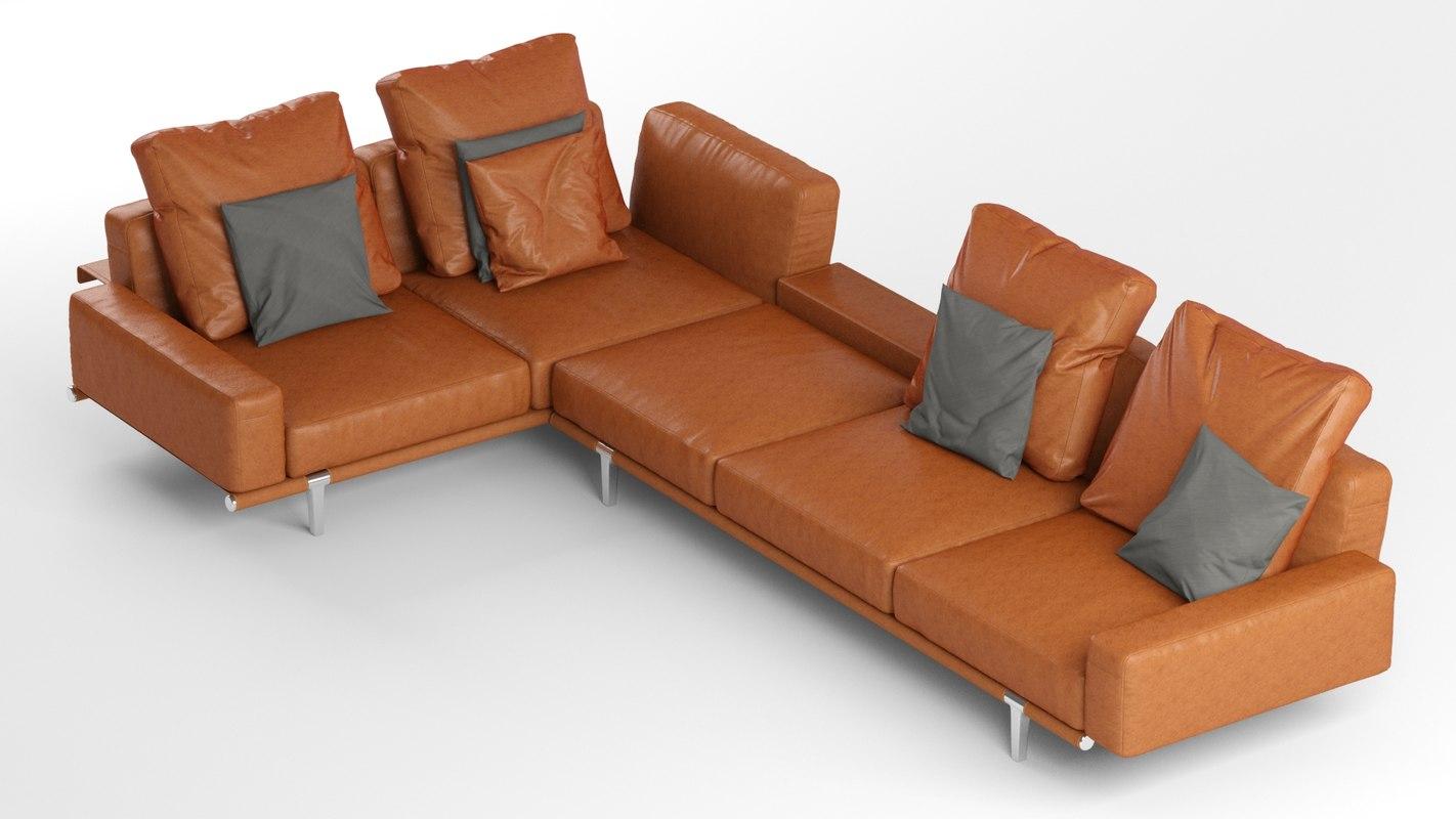 Poltrona Sofa.Sofa Let Poltrona Frau Model Turbosquid 1278344