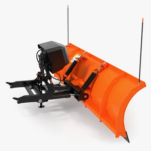 3D snowplow rigged
