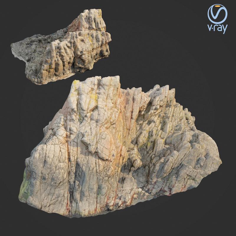 scanned rock cliff i2 3D model