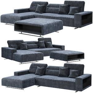 boconcept hampton corner sofa 3D
