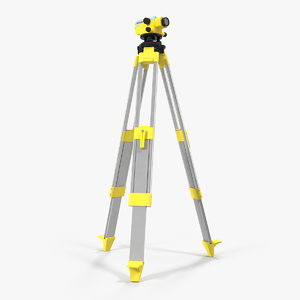 survey automatic level tripod 3D model