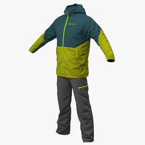 winter sport suit 3D model