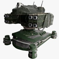 3D turret cannon model