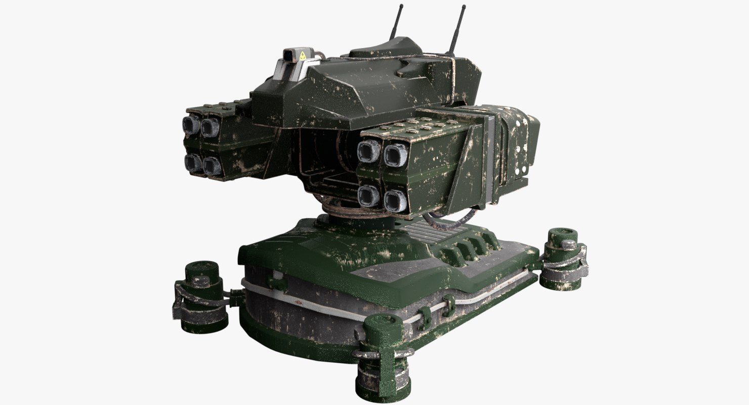 3D turret cannon model