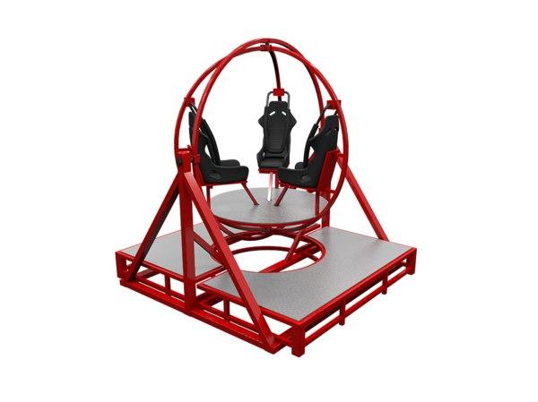 human gyroscope 3D model