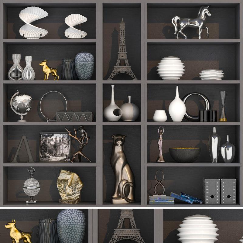 vase statuette decor 3D model