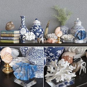 vase statuette decor model