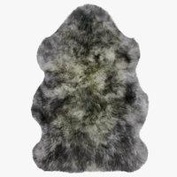 3D luxe mist sheepskin rug