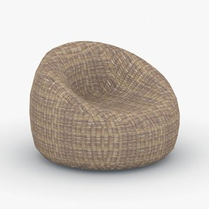 3D model - armchairs bean bags
