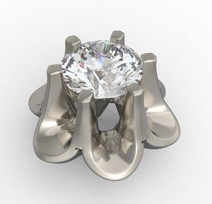 bezel diamond 3D model