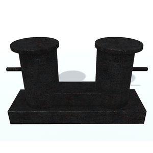 ship bollard b 3D model