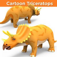 3D cartoon triceratops ready model