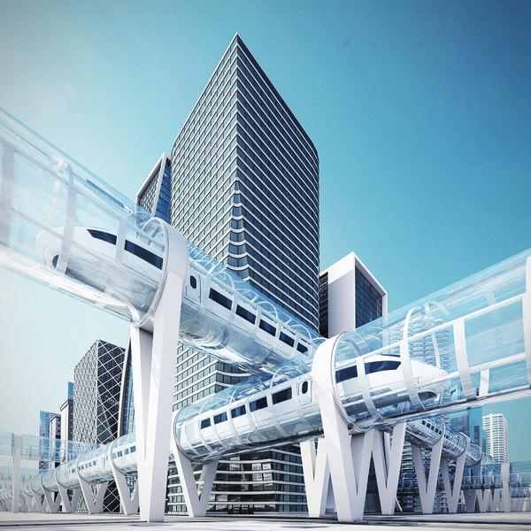 futuristic city future 2070 3D model