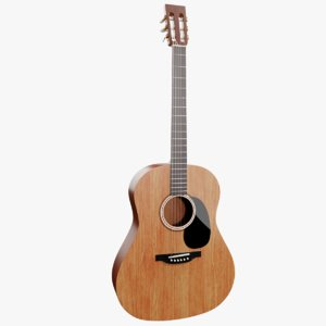 3D guitar instrument music model